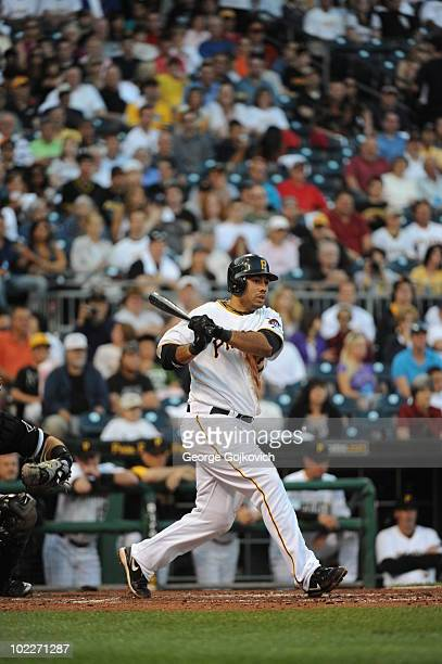 Third baseman Pedro Alvarez of the Pittsburgh Pirates bats during a game against the Chicago White Sox at PNC Park on June 17 2010 in Pittsburgh...