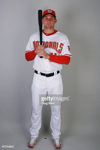 Third baseman Ryan Zimmerman of the Washington Nationals poses during photo day at Space Coast Stadium on February 28 2010 in Viera Florida