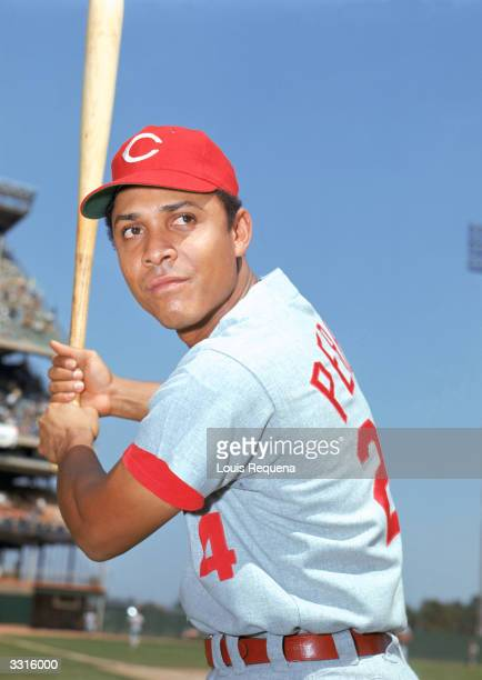 Third baseman Tony Perez of the Cincinnati Reds poses for a portrait Perez played for the Reds in 196476 and returned in 198486