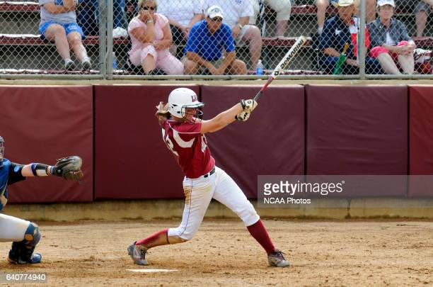Third Basemen Sarah Norris of Lock Haven in action batting during the Division II Women's Softball Championship held at the James I. Moyer Sports...