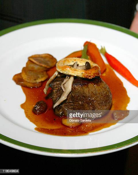 Sautéed New Zealand Beef Tenderloin with Wild Mushroom Ragout and topped off with a Crisp Parmesan Ring reflects The Lord of the Rings The Return of...