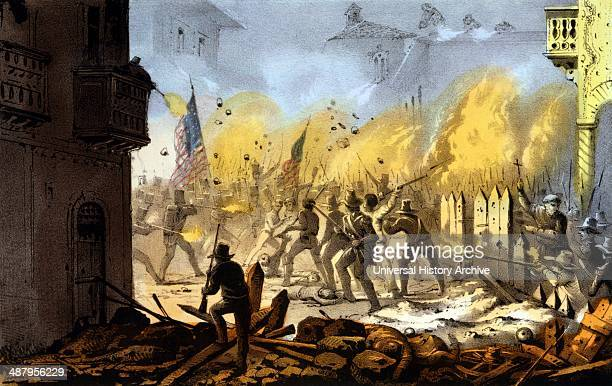 Third day of the siege of Monterey Sept. 23rd 1846. Campaign in the Mexican-American War, 1846-1848.