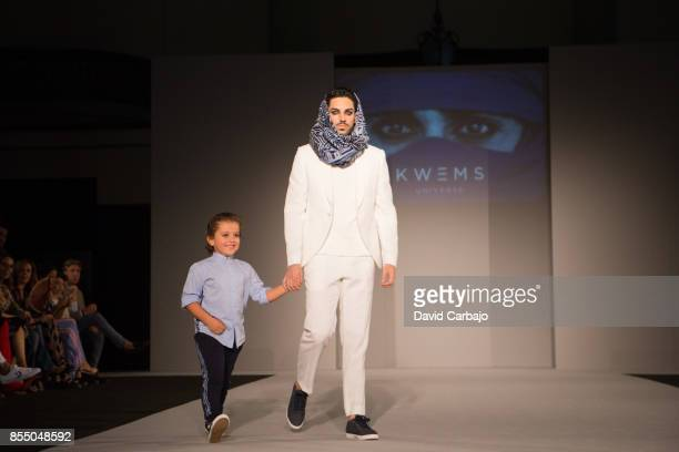 Third day on the catwalk Code 41 Trending Day designer Olivia Mbia wife of former Sevilla soccer player Stephane Mbia presents her brand Kwems with...