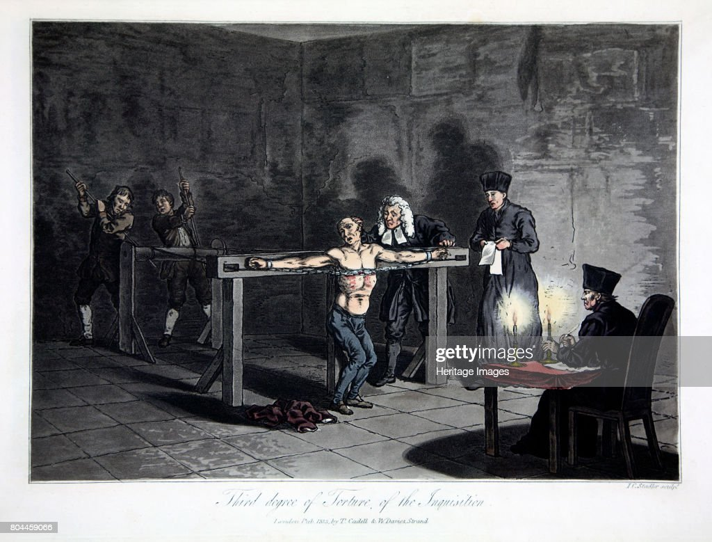 Third Degree Of Torture Of The Inquisition' 1813 : News Photo