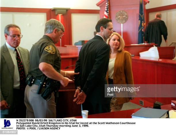 Third District Court Bailiff Leads Polygamist David Ortell Kingston Away Thursday June 3 1999 After He Was Convicted On One Count Of Incest And One...