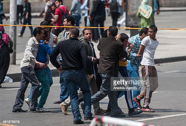 A third explosion went off outside Cairo University on Wednesday after two other homemade blasts in the same place killed a senior police officer and...