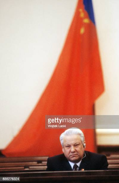 Third, extraordinary session of the Congress of People's Deputies of the Russian SFSR. Pictured: Chairman of the Presidium of the Supreme Soviet of...