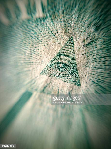 Third Eye Symbol Triangle Pyramid Of Us Dollar Bill