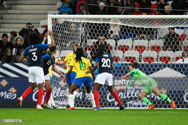 Third goal for France during the International Women match between France and Brazil at Allianz Riviera Stadium on November 10 2018 in Nice France