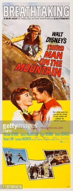 Third Man On The Mountain poster US poster art from left Janet Munro James MacArthur 1959