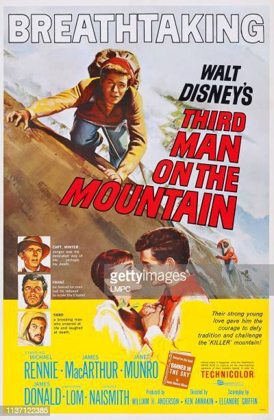 Third Man On The Mountain poster US poster James MacArthur left from top Michael Rennie James Donald Herbert Lom face to face from left Janet Munro...
