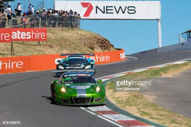 Third place car No 540 Black Swan Racing Porsche 911 GT3 R driven by Tim Pappas / Jeroen Bleekemolen / Luca Stolz / Marc Lieb at The LiquiMoly...