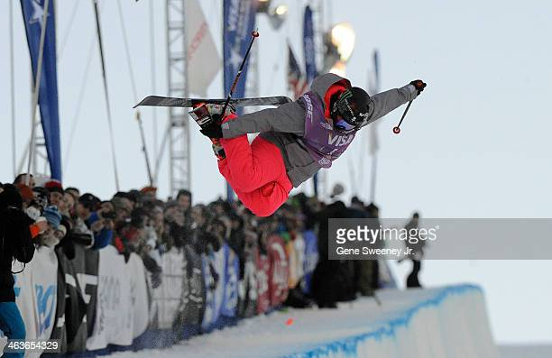 Third place finisher Devin Logan competes during the Women's Halfpipe competition on day two of the Visa US Freeskiing Grand Prix at Park City...