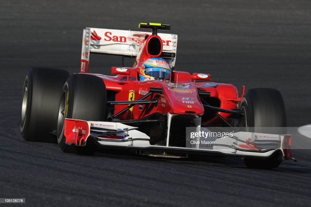 Third placed Fernando Alonso of Spain and Ferrari drives during the Japanese Formula One Grand Prix at Suzuka Circuit on October 10, 2010 in Suzuka, Japan.