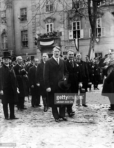 Third Reich opening of the Reichstag 'Day of Potsdam' The members of the new cabinet on their way to the Garnisonchurch At the head Chancellor Adolf...