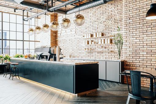 Third Wave Coffee Shop Interior 1158448833