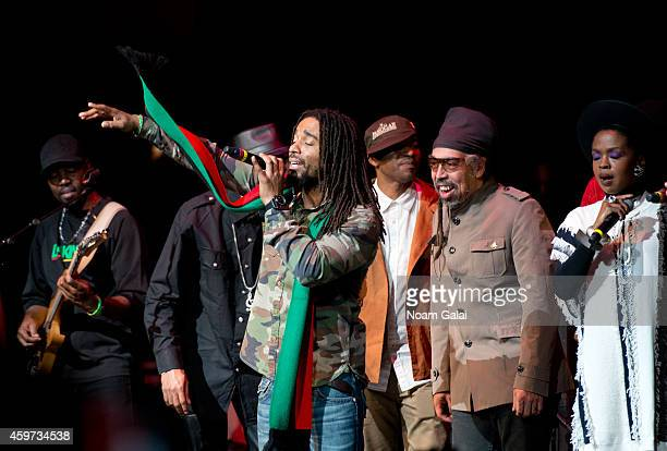 Third World and The Wailers band members perform with Lauryn Hill during The Wailers 30th Anniversary Performance at The Apollo Theater on November...