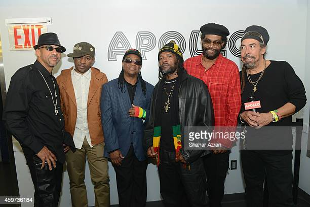 Third World backstage at the The Apollo Theater on November 29 2014 in New York City