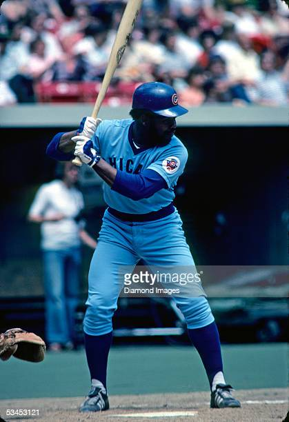 Thirdbaseman Bill Madlock of the Chicago Cubs at bat during a game against the Pittsburgh Pirates at Three Rivers Stadium in Pittsburgh Pennsylvania