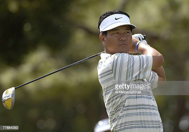 Thirdround leader K J Choi during the third round of the 2006 Chrysler Championship Oct 28 in Palm Harbor Fl