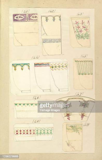 Thirteen Designs for Decorated Cups 184555 Artist Alfred Crowquill