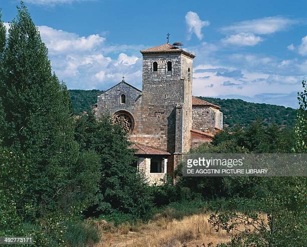 Thirteenth century collegiate church on the Camino de Santiago de Compostela Covarrubias CastilleLeon Spain