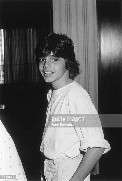 Thirteenyearold Puerto Rican singer Ricky Martin from the pop group Menudo smiling at the Century Plaza Hotel in Los Angeles California