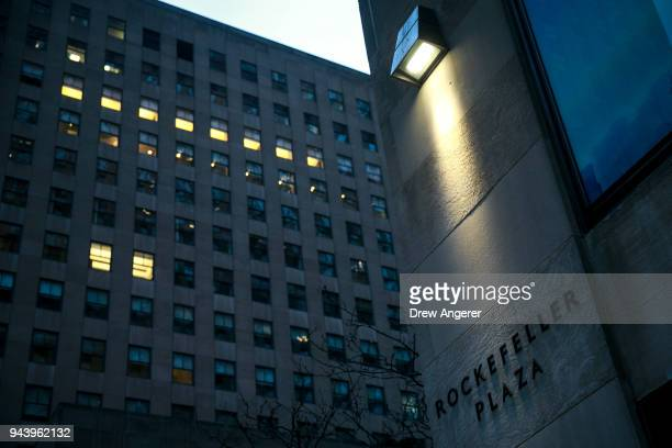 Thirty Rockefeller Plaza is shown where FBI officials reportedly raided the offices of Michael Cohen longtime personal lawyer for President Donald...
