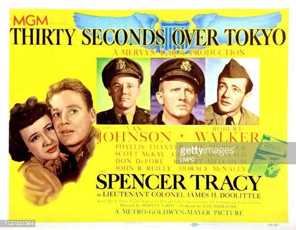 Thirty Seconds Over Tokyo lobbycard Phyllis Thaxter Van Johnson Spencer Tracy Robert Walker 1944