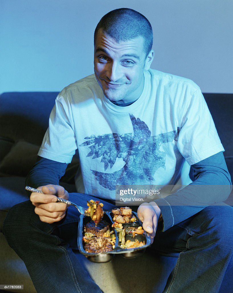 eating tv dinners dartoon