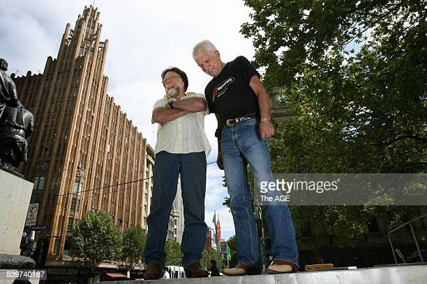 ACDC Thirty years since the making of ACDC Long Way To The Top in Swanston St cameraman David Olney left with director Paul Drane on 21st February...