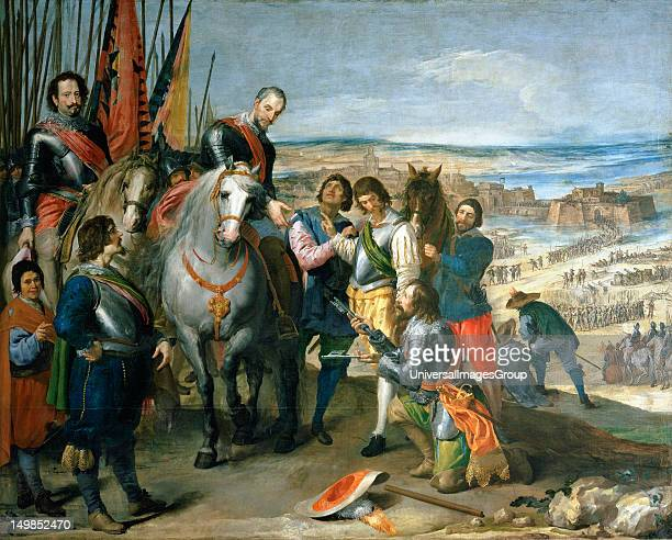 Thirty Years War The Surrender of Julich Ambrosio Spinola with Diego Felipe de Guzman receives the keys from the Dutch governor By Jusepe Leonardo...