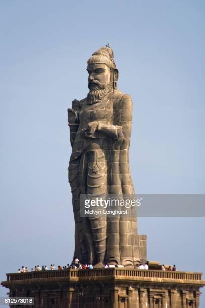 thiruvalluvar statue, kanyakumari, tamil nadu, india - tamil nadu stock pictures, royalty-free photos & images