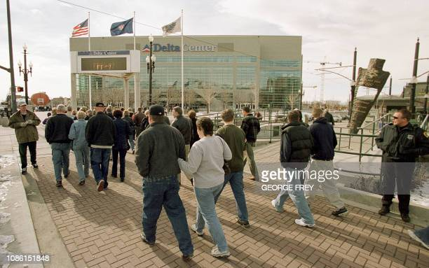 This 01 February 2001 photo shows the Delta Center where several major ice events will be held for the 2002 Winter Olympics in Salt Lake City Utah...