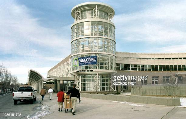 This 01 February 2001 photo shows the newly expanded Salt Lake City Convention Center where the Press Center will be for the 2002 Winter Olympics in...