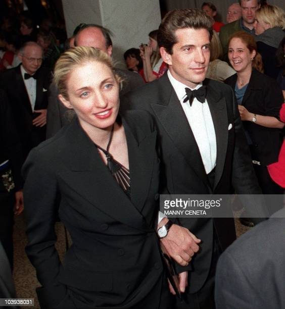 This 01 May file shows John F Kennedy Jr and his wife Carolyn Bissette as they leave at the end of the White House Correspondent's annual dinner in...