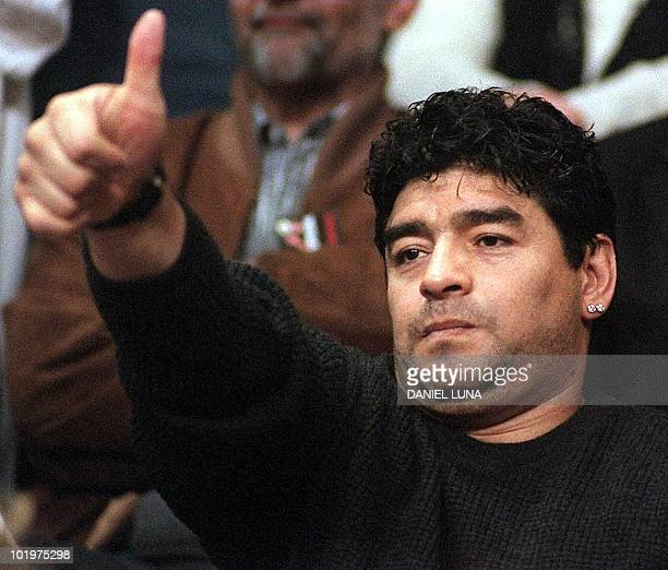 This 06 June file photo shows former Argentine soccer star Diego Maradona in Buenos Aires A Cantegrill hospital doctor in Punta del Este Uruguay said...