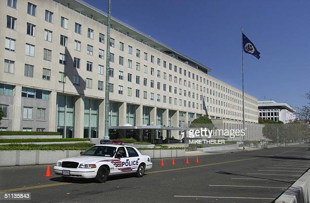 This 08 October 2001 file photo shows the front of the US State Department in Washington DC The United States 01 August 2004 raised its terrorist...