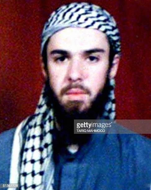 This 11 February 2002 copy shows American Taliban John Walker Lindh from the records of the Arabia Hassani Kalan Surani Bannu madrassa in Pakistan's...