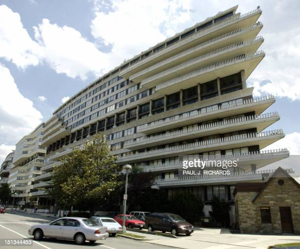 This 17 June 2002 file photo shows the Watergate complex in Washington DC where in June 1972 burglars used eavesdropping devices to listen in on the...