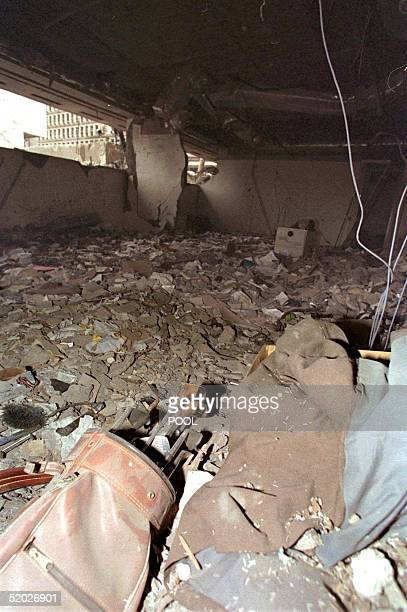 This 18 August photo shows the interior of the US embassy in Nairobi US Secretary of State Madeleine Albright pledged that the United States would...