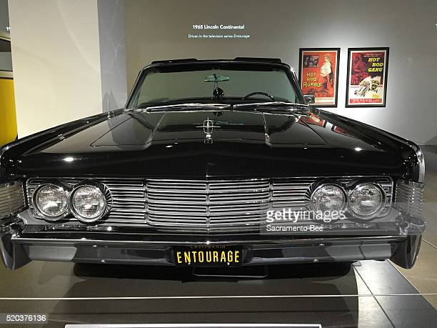 This 1965 Lincoln Continental used by the cast of Entourage is on display at the Petersen Automotive Museum in Los Angeles