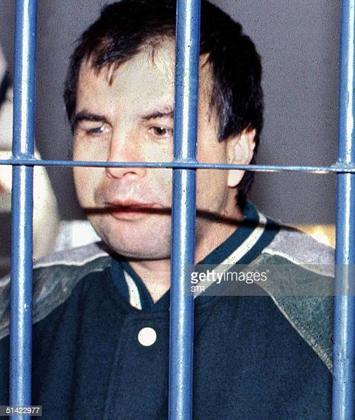 This 1993 file photo shows jailed drug trafficker Otoniel Gonzalez alias Otto in Bogota Gonzalez and three other former lieutenants of the late drug...