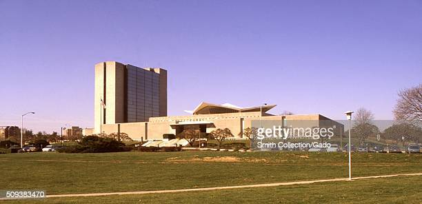 This 1999 photograph depicted the National Library of Medicine located on the campus of the National Institutes of Health in Bethesda Maryland Image...