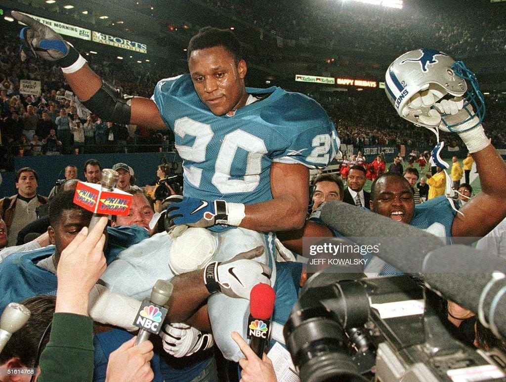 This 21 December 1997 file photo show Detroit Lion : News Photo