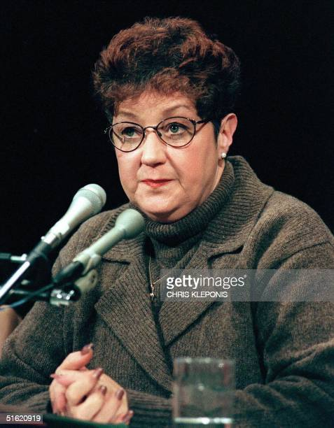 This 21 January file photo shows Norma McCorvey the woman at the center of the US Supreme Court ruling on abortion testifies before a US Senate...