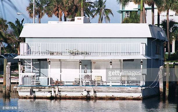This 23 July photo shows a houseboat that was stormed by a SWAT team in Miami Beach on reports that Andrew Cunanan, the suspect in the 15 July...