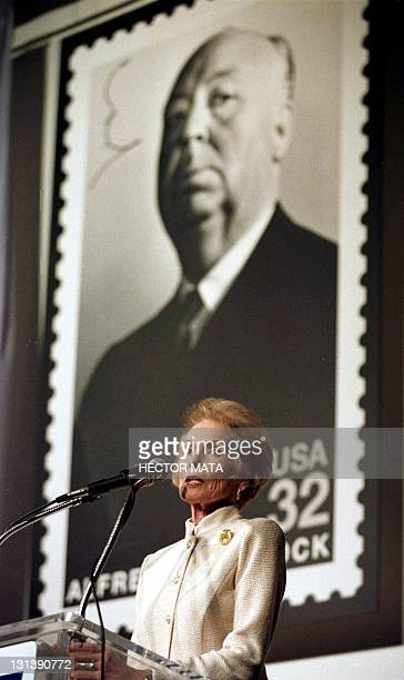 This 29 October1997 file photo shows actress Janet Leigh who starred in Hitchcock's 1960 thriller Psycho speaking during the unveiling ceremony of a...