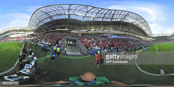 This 360 image shows the the Kazan Arena stadium in Kazan on June 18 2017 ahead of the 2017 FIFA Confederations Cup group A football match between...