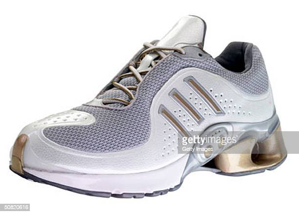This Adidas handout photo shows the new Adidas 1 running shoe Equipped with sensors and a microchip this shoe is designed to alter itself according...